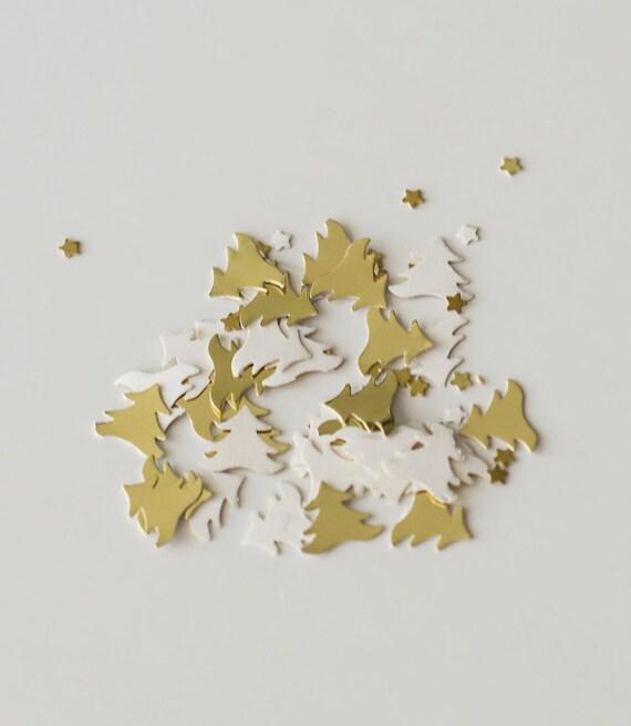 200 Gold Christmas Tree Confetti Christmas Wedding Table