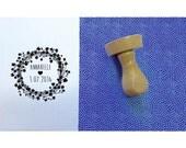 Tampon couronne fleurs A, tampon baptême sur mesure, tampon rond 4,5cm, tampon prénom, tampon date,tampon personnalisé, tampon bois, stamp