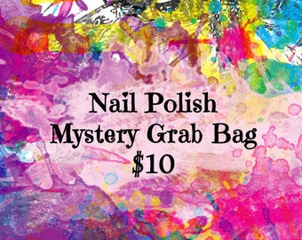 Nail Polish Mystery Grab Bag, Nail Polish Subscription Box, Nail Polish Mystery Box, Grab Bag