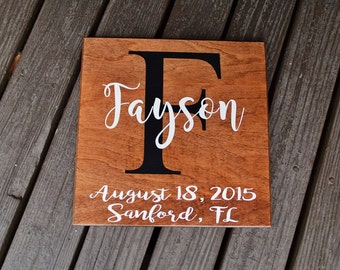 Personalized Custom Name Sign, Family Established, Wedding Date Sign. Hand Painted Wedding, Anniversary Gift - Options Available!!