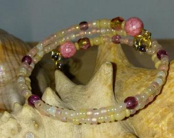 Peaches & Cream Wrap Bracelet