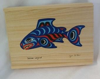 Wooden Salmon Etsy