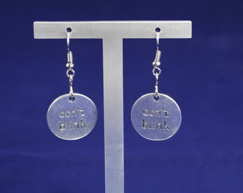 Doctor Who Don't Blink Dangle Earring