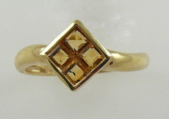 Citrine 0.56ct 14k Yellow Gold Ring