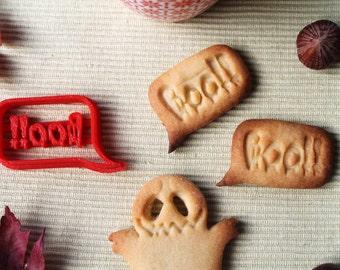 Boo!! - Halloween cookie cutter with the letters Boo!! -  Cookie mold for halloween with the word Boo - Halloween claim - sweet treat