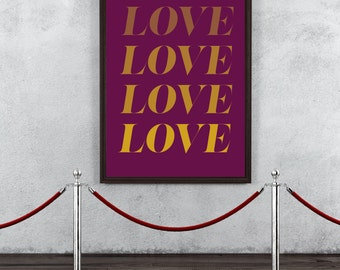 TYPOGRAPHY PRINT DIGITALDRUCK ( love )