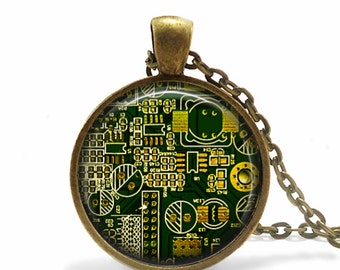 Computer Geek Gifts Computer Circuit Board jewelry Circuit Board necklace computer geek gift computer nerd gift *NOT real circuit board*