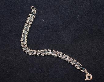 Czech and Seed Bead Bracelet