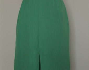Green Vintage Pencil Skirt