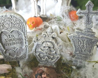 Miniature Tombstones - Set of 3