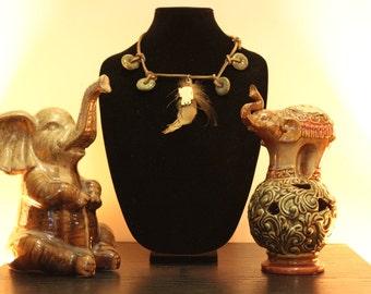 Primitive Elephant Bone Necklace