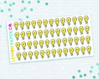 Ideas // Lightbulb Planner Stickers