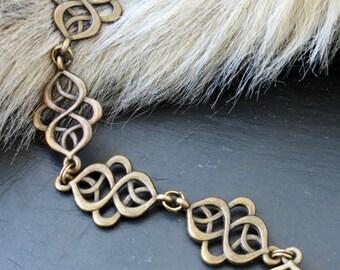 """Bracelet """"Celtiqua"""" Arabesques Bronze"""