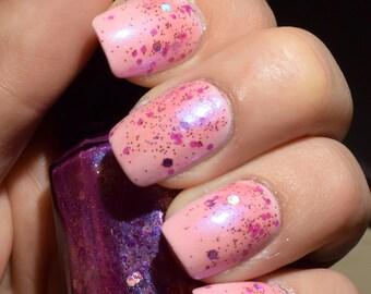 SALE!! Nail Polish - Lilac Luster// Nail lacquer// Glitter Nail Polish// Purple Nail Polish