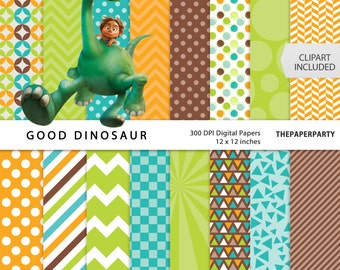 Good Dinosaur digital papers 12 x 12 inches high quality personal and commercial use