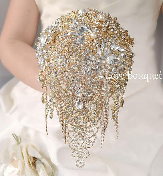 brooch bouquet bridal bouquet crystal wedding brooch. Black Bedroom Furniture Sets. Home Design Ideas