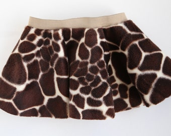 Brown Cow Print Skirt