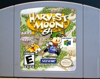 Harvest Moon 64 Nintendo 64 Game, N64 Game - Tested and Working - Video Game