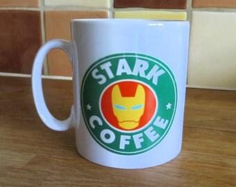 Tony Stark Iron Man Marvel Starbucks Inspired Coffee Mug 10oz