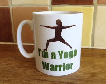 Yoga Warrior Pose Coffee Tea Mug 10oz