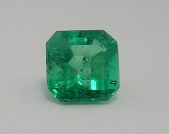 1.32 Ct Natural Colombian  Square Loose Emerald from Muzo Mine