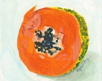 Original Acrylic Painting: Papaya