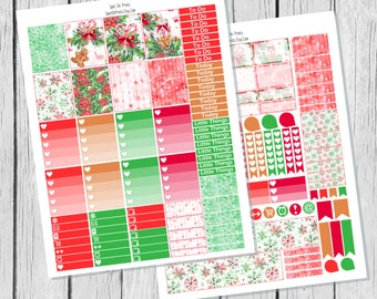 Almost Christmas || Christmas Planner Sticker Printable / Printable Planner Stickers / Weekly Sticker Kit / Winter Planner Stickers