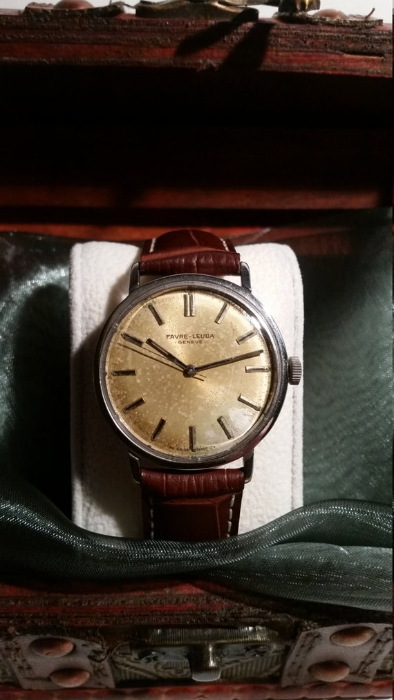 Vintage Favre-Lueba Gents Watch -  1960's Watch with Lovely Patina