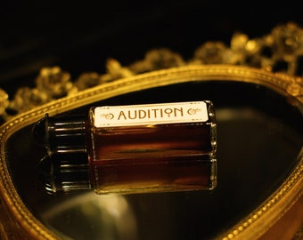 NATURAL perfume oil, AUDITION , botanical fragrance, organic perfume  Chocolate, coffee, Tobacco, Antique Patchouli,