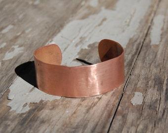 Pure Copper Bangle Bracelet Cuff - Handmade Bohemian Jewelry Arthritis Health