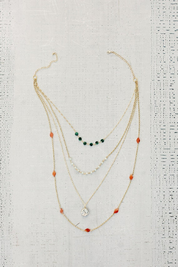 Mixed Gemstone Neckalce