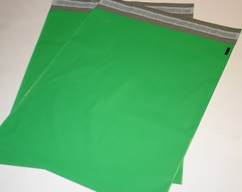 20 12x15.5 Poly Mailers GREEN Self Sealing Envelopes Shipping Bags Spring Easter