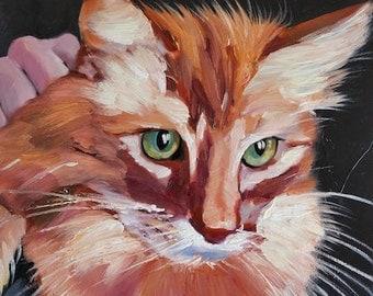 Custom Pet Portrait Custom Cat Portrait from Photo. Cat Lover Gift Custom Pet Painting. Dog Portrait Painting Original Painting Personalized