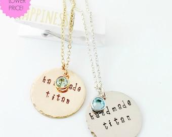 "Bestie Necklace # 3  ""Handmade Titan""  Necklace"