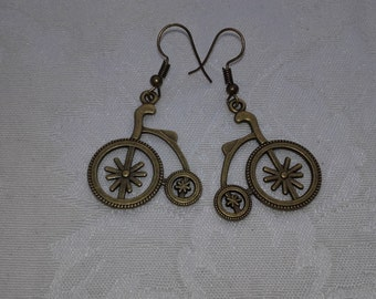 "Earrings ""bicycle vintage"""