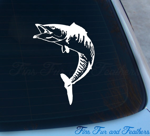 Wahoo decal wahoo sticker saltwater offshore fishing for Saltwater fishing decals