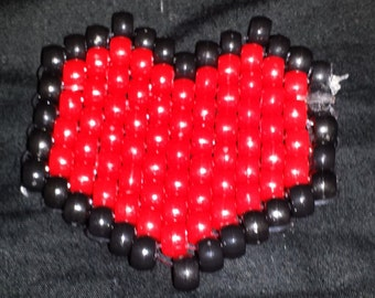 Red and Black Heart Charm