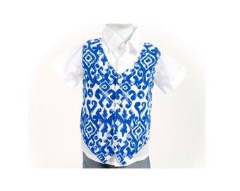 Boy Vest / Batik Vest / Ikat Vest / Baby Vest / Infant Vest / Trendy Vest / Hippie Vest / Hippie clothes / Hipster Vest / Baby Boy Vest