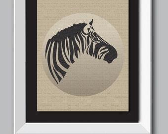 Zebra wall art, Zebra wall decor, Zebra print, animal silhouette,animal wall decor