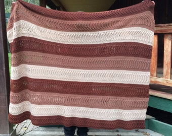 Hand Knitted Throw Blanket
