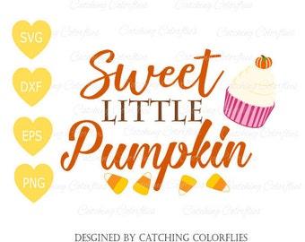 Sweet Little Pumpkin Fall SVG Cutting Files- Autumn SVG Cut Files- Candy Corn Pumpkin Svg- SVG for Cricut & Silhouette