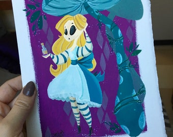 Drink Me- Original Gouache Painting