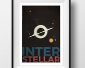 Interstellar inspired fan art - Endurance flight path poster print - A map of the route taken to save humanity!