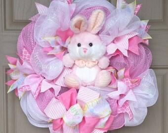 Baby Girl Wreath, Baby Shower Gift Wreath, Nursery Wreath Decor, Mom to Be Gift, Personalized Baby Wreath, Baby Keepsake Wreath