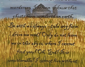 Wuthering Heights Quote - print