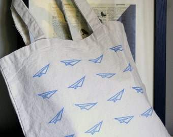 Paper Airplane Tote Bag