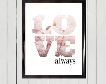 LOVE ALWAYS PRINT Digital
