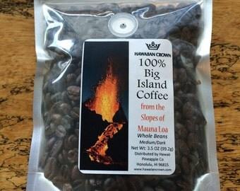 Organic Big Island 100% Pure Hawaiian Coffee- 3.5oz