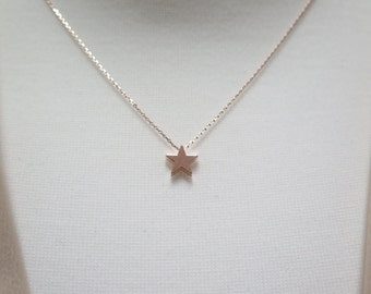 Thank you SALE /Tiny star necklace / delicate star necklace / start short necklace / gift star necklace / dainty start necklace with giftbox