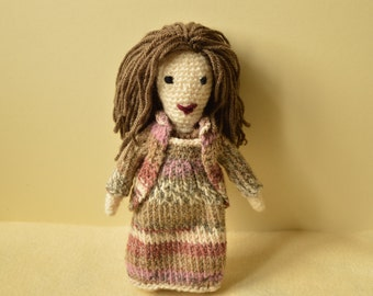 Crochet doll, amigurumi doll Maggie, handmade doll with clothes